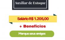 Auxiliar De Estoque – Zona Leste em São Paulo – SP