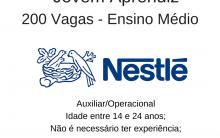 A Nestlé está com 200 vagas para  – Jovem Aprendiz
