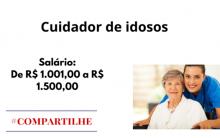 Cuidador de idosos – Diversas cidades – 56 vagas